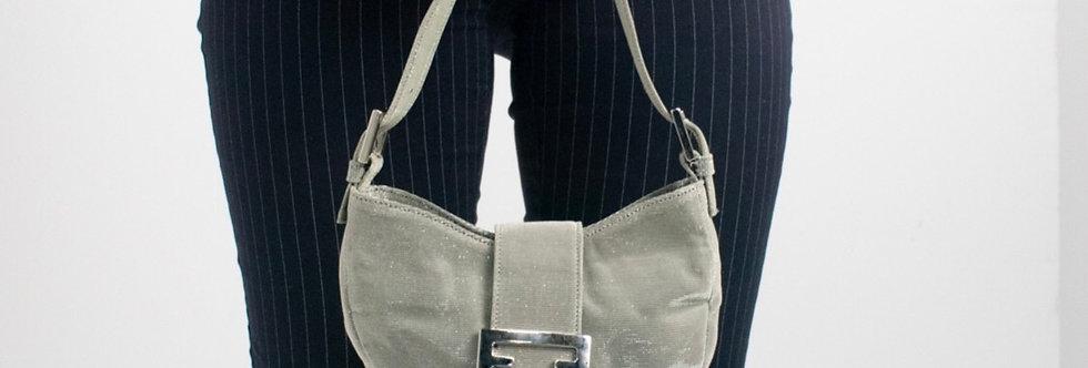 Metallic Silver Mini Bag