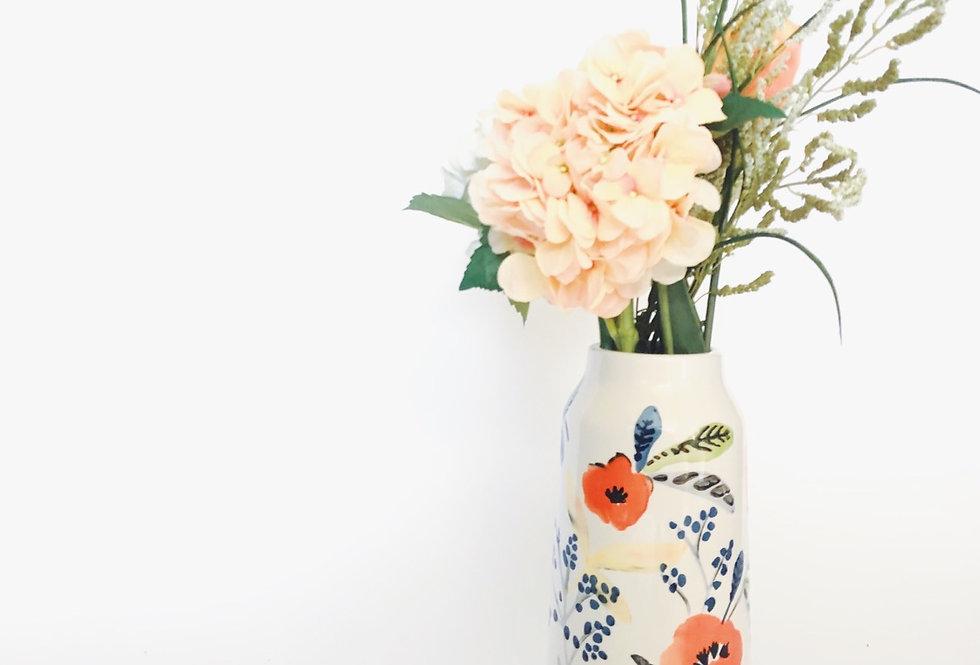 Floral Italian Glass vase