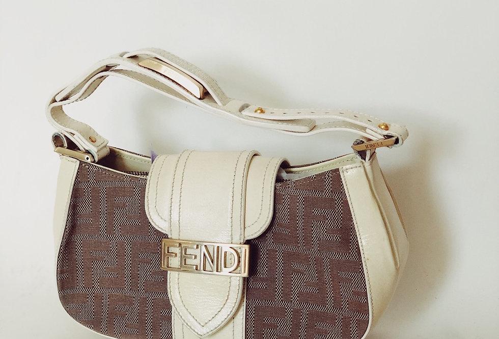 Fendi Print Creme Bag