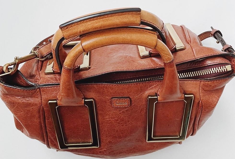 Chloe Brown Leather Satchel
