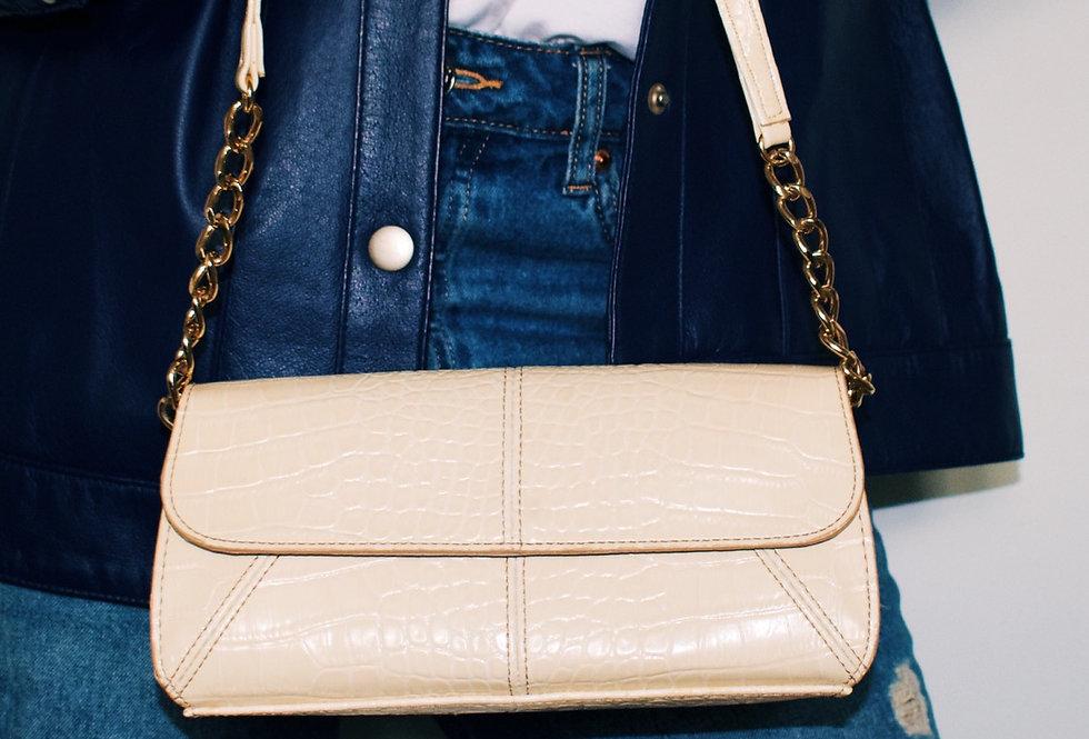 Beige Chain Shoulder bag
