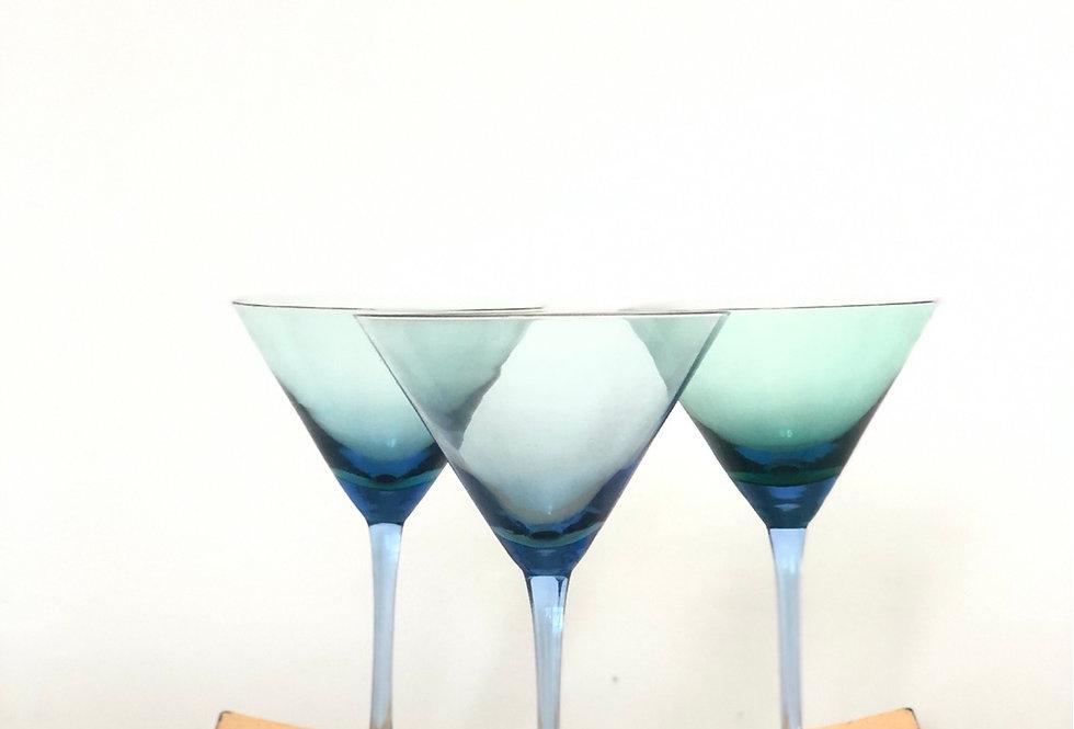 Vintage Sapphire Martini Glasses (3)