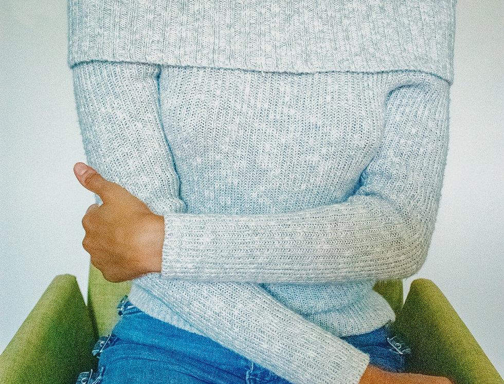 Comfy Off-the-Shoulder Knit Sweater
