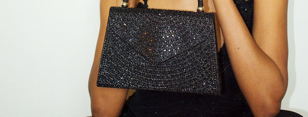 Black Crystal Mini Bag