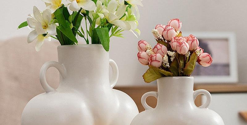 Ceramic  Body Art Dried Flower Plant Arrangement