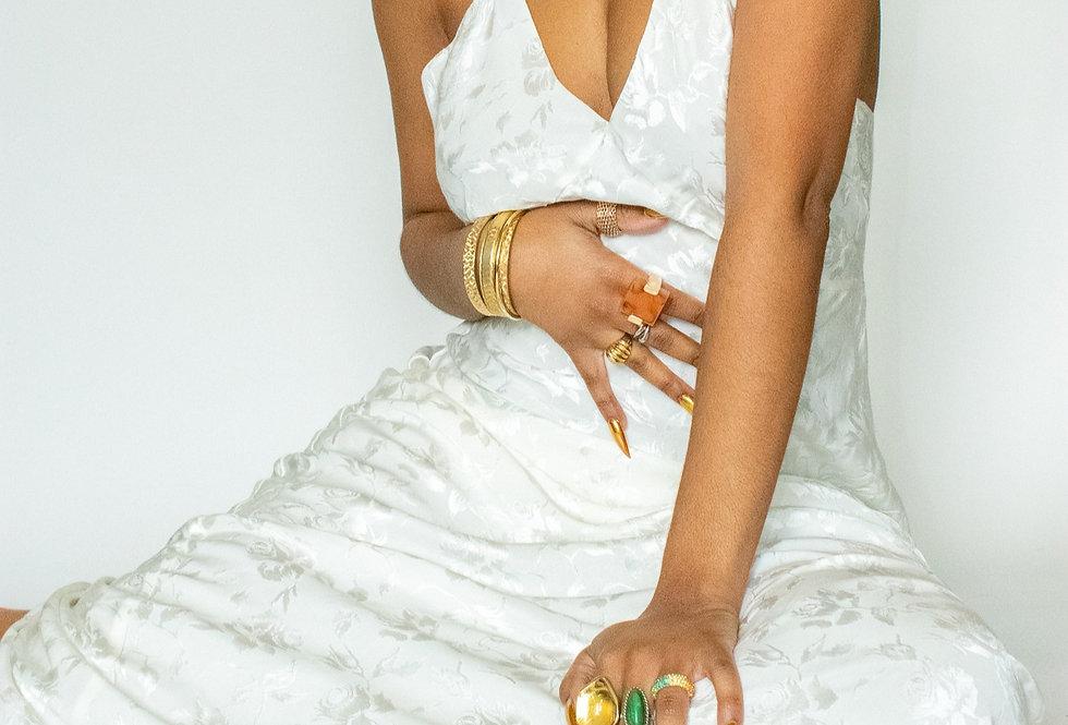 Long Satin Lingerie Dress