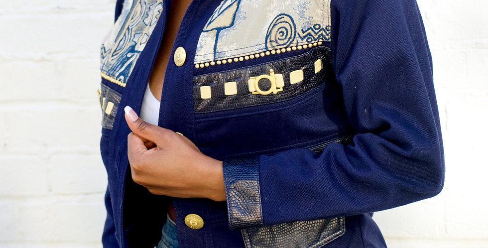 Cache Embroidered Denim Jacket