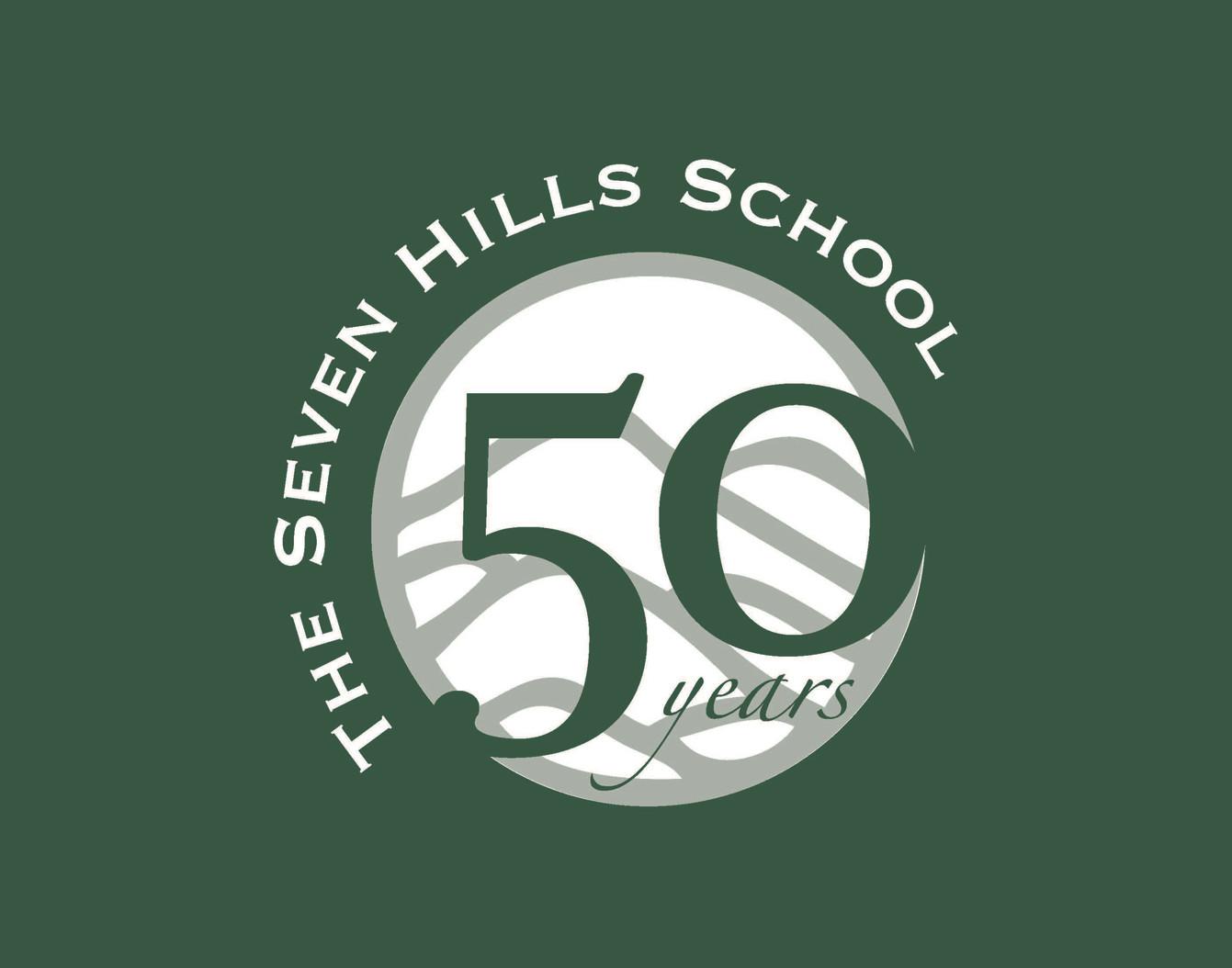 50th Anniversary Logo for Seven Hills School