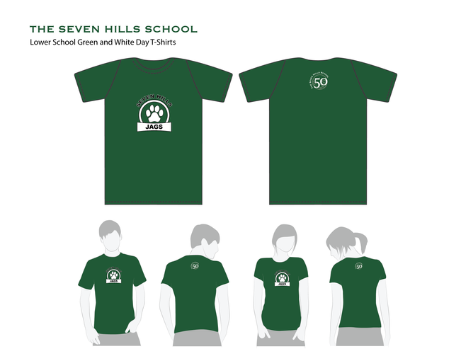 """T-shirts for """"Green & White Day"""" for school"""