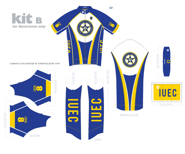 Cycling kit for union team