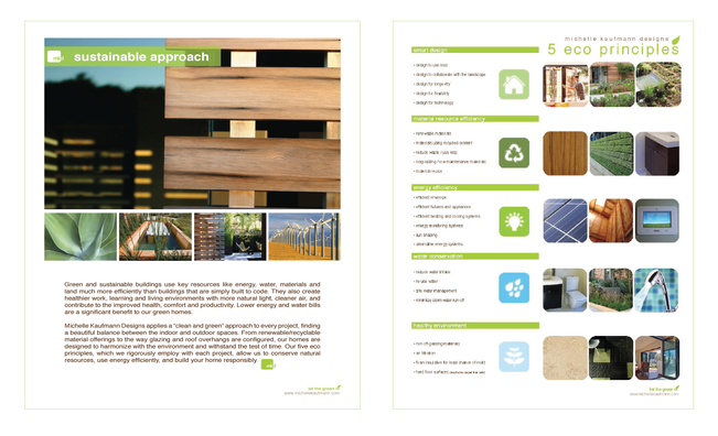 Marketing material for architecture firm