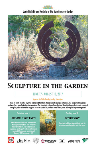 Poster advertising for Ruth Bancroft Garden event