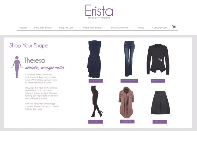 Website mockup for start-up fashion company