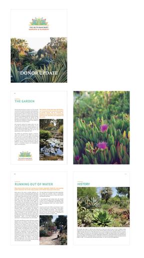 Ruth Bancroft Garden Donor Update Publication