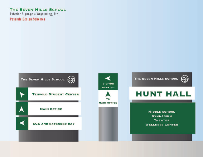 Environmental and wayfinding signage for school
