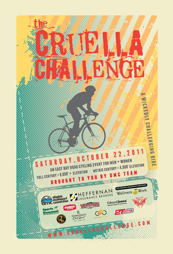 Poster for charity ride