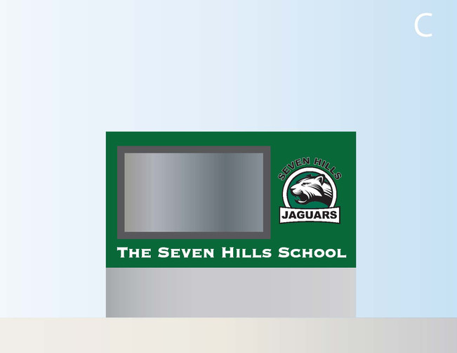 Monument/LED sign designs for school
