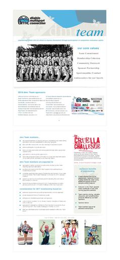 Marketing material for multisport endurance team