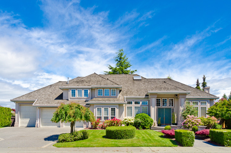 Luxury house at sunny day in Vancouver,