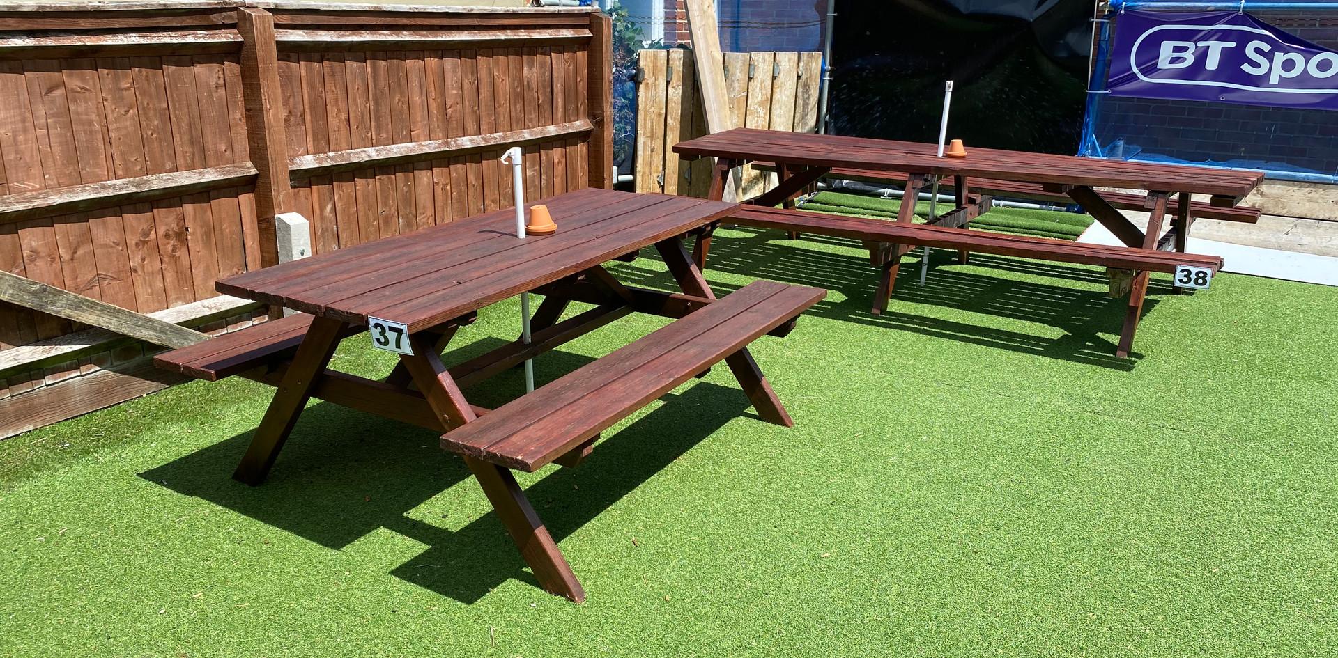Garden tables 37 & 38