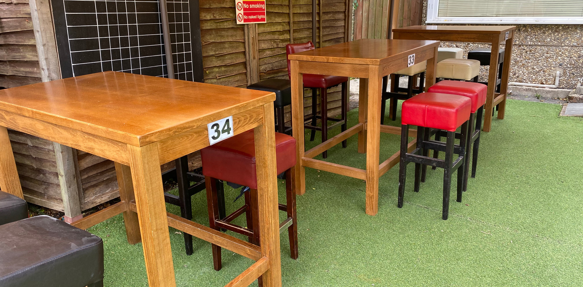 Undercover tables 32, 33 & 34