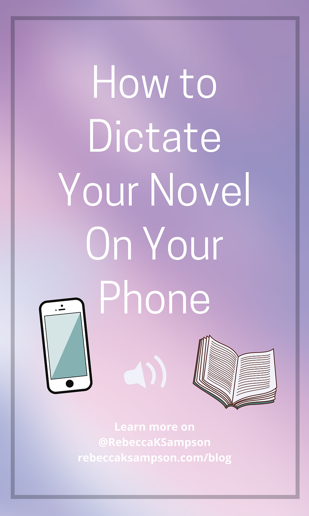 Easily dictate your novel with your phone, saving you time while drafting a novel