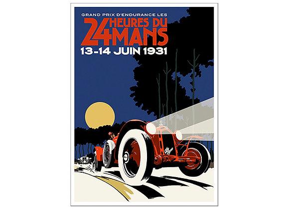 Alfa Romeo Le Mans Night Poster