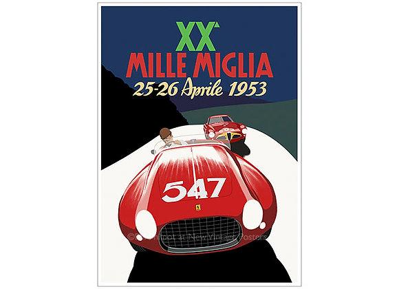 Ferrari Mille Miglia Poster
