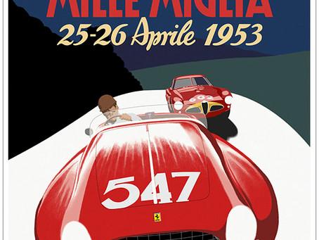 The Ferrari Mille Miglia Poster