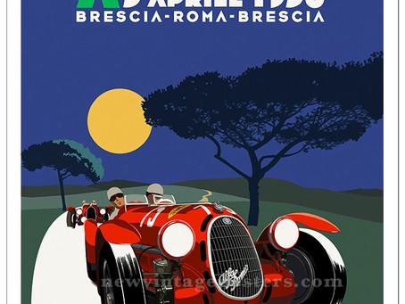 Alfa Romeo 1936 Mille Miglia Poster