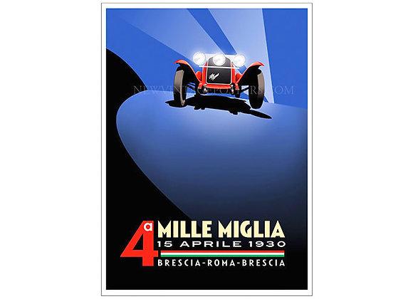 Alfa Romeo Mille Miglia 1930 Poster