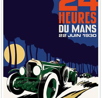 Bentley 1930 Le Mans Poster