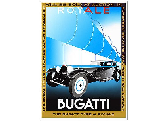 Bugatti Royale Poster