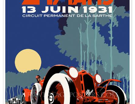 Alfa Romeo Le Mans Day Poster