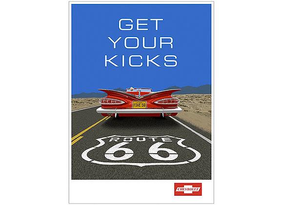 Chevrolet Impala Route 66 Poster