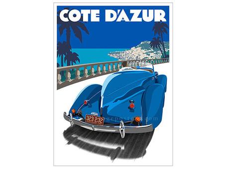 Auburn Cote D'azur Poster