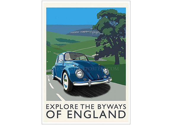 VW Beetle Poster