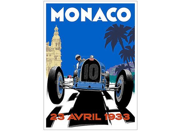Bugatti Monaco Poster
