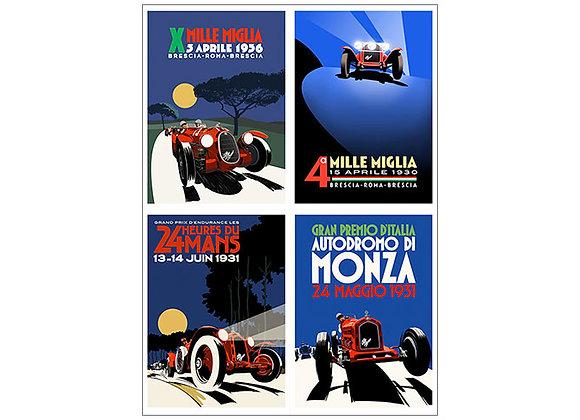 Half-Price 4 x Size 3 Alfa Romeo Posters