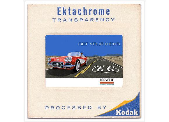 Chevrolet Corvette Route 66 Ektachrome Poster