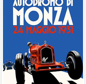Alfa Romeo Monza Poster