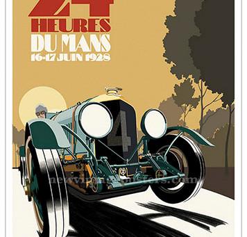 Bentley 1928 Le Mans Poster