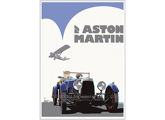 Aston Martin Blue Poster