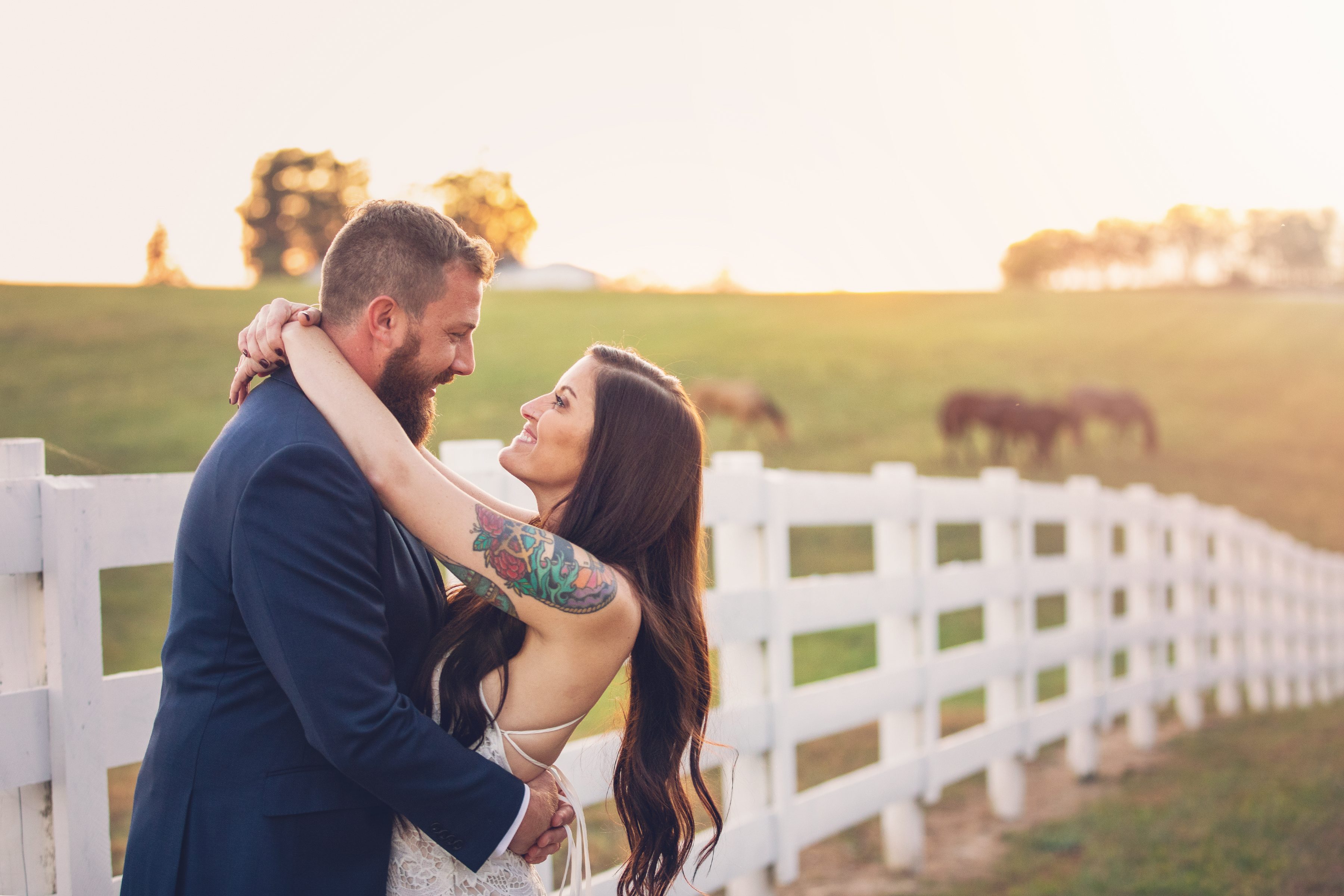 bride and groom irongate equestrian center