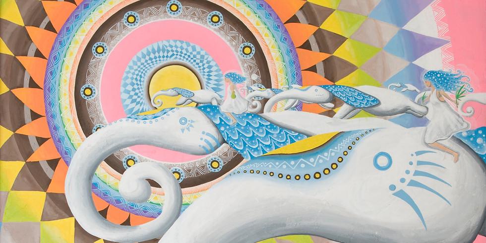 個展「春めく」〜帰ってきた精霊ボンボの細胞と空飛ぶ白いパラピルト〜