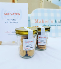 Activated Almond Ice Cookies