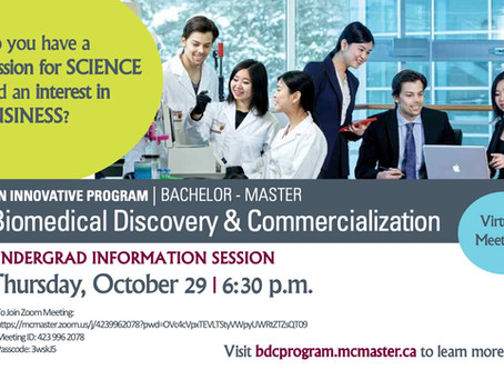 Biomedical Discovery and Commercialization Program Information Sessions