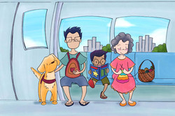 Find the mascot Guide Dogs Singapore