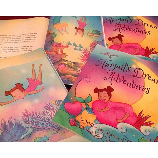 Book preview of Abigail's Dream Adventures that I have illustrated