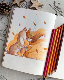 Colour pencil sketches